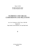 Florence and Milan: Comparisons and Relations
