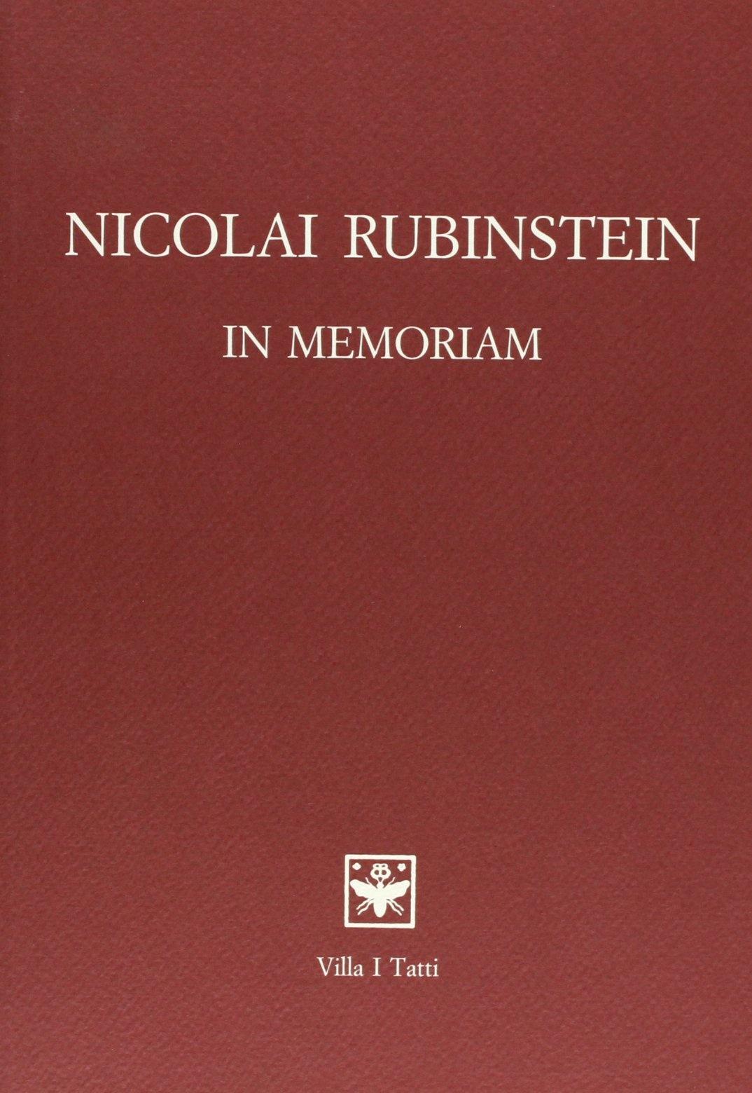 Nicolai Rubinstein – In Memoriam