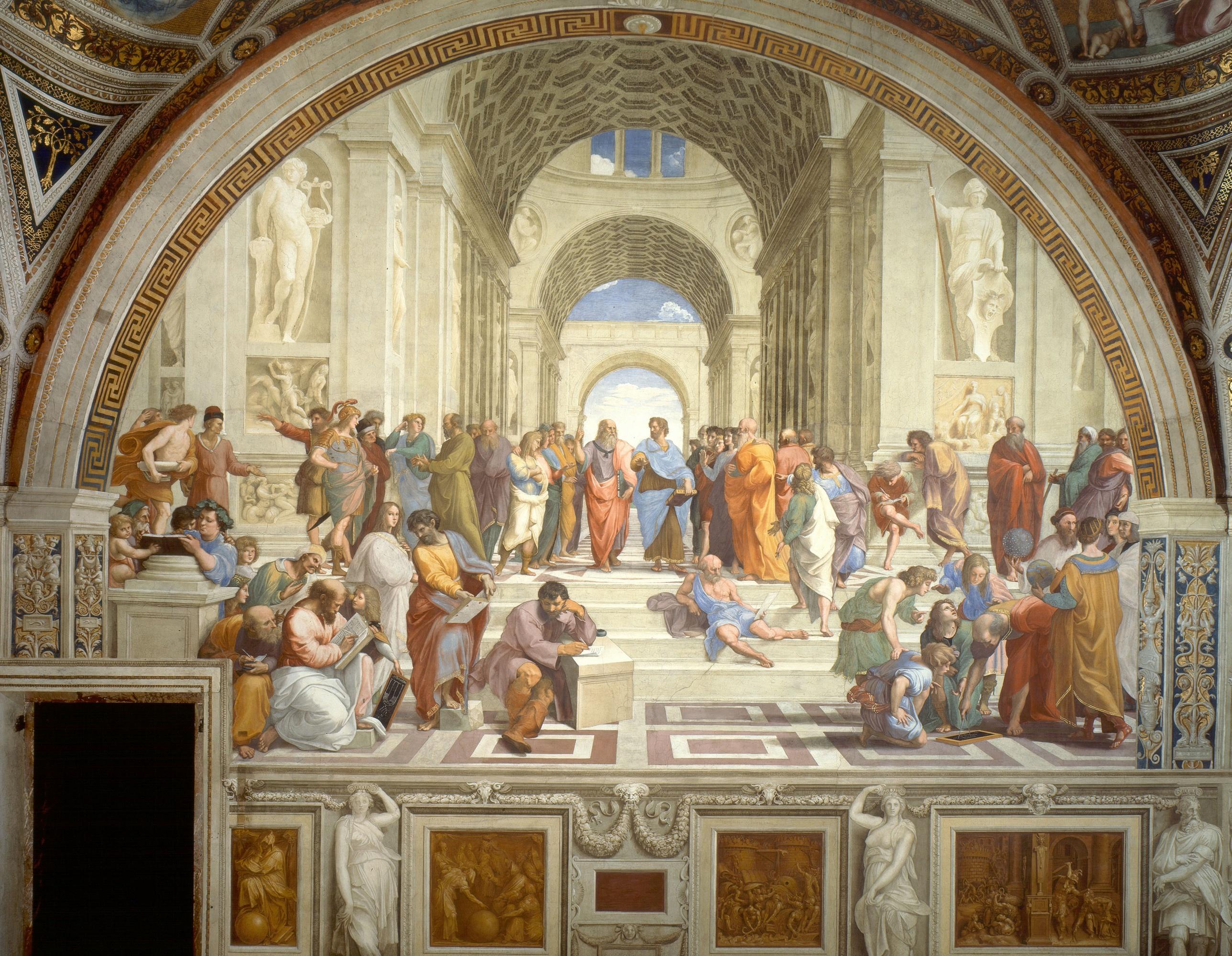 The school of Athens by Raffaello