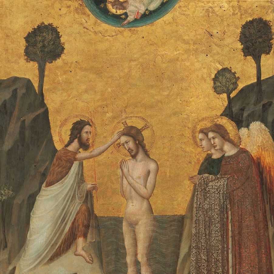 The Baptism of Christ, Master of the Life of Saint John the Baptist. The National Gallery, Washington D.C.