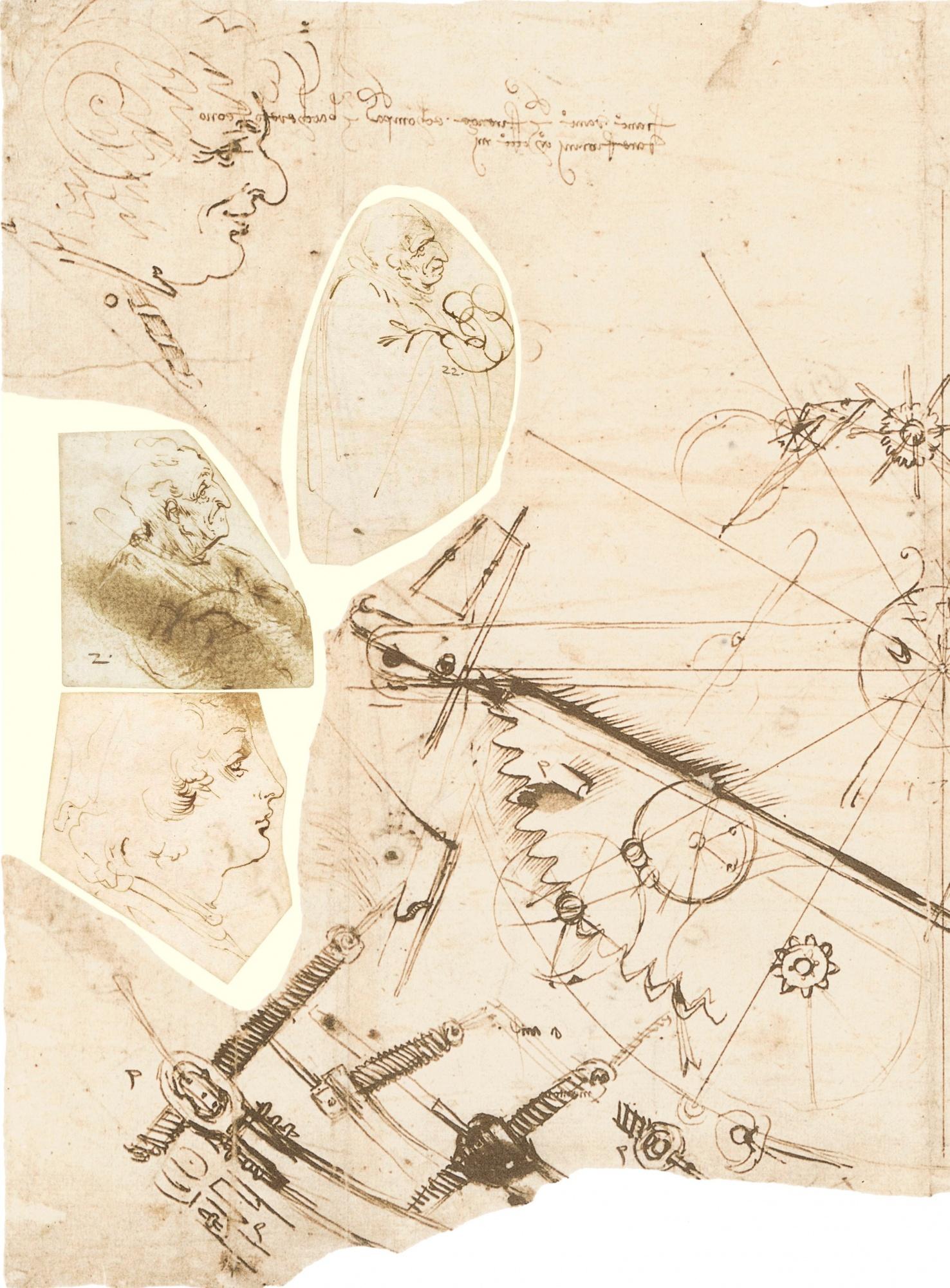 A detail taken from Codex Atlanticus of Leonardo da Vinci