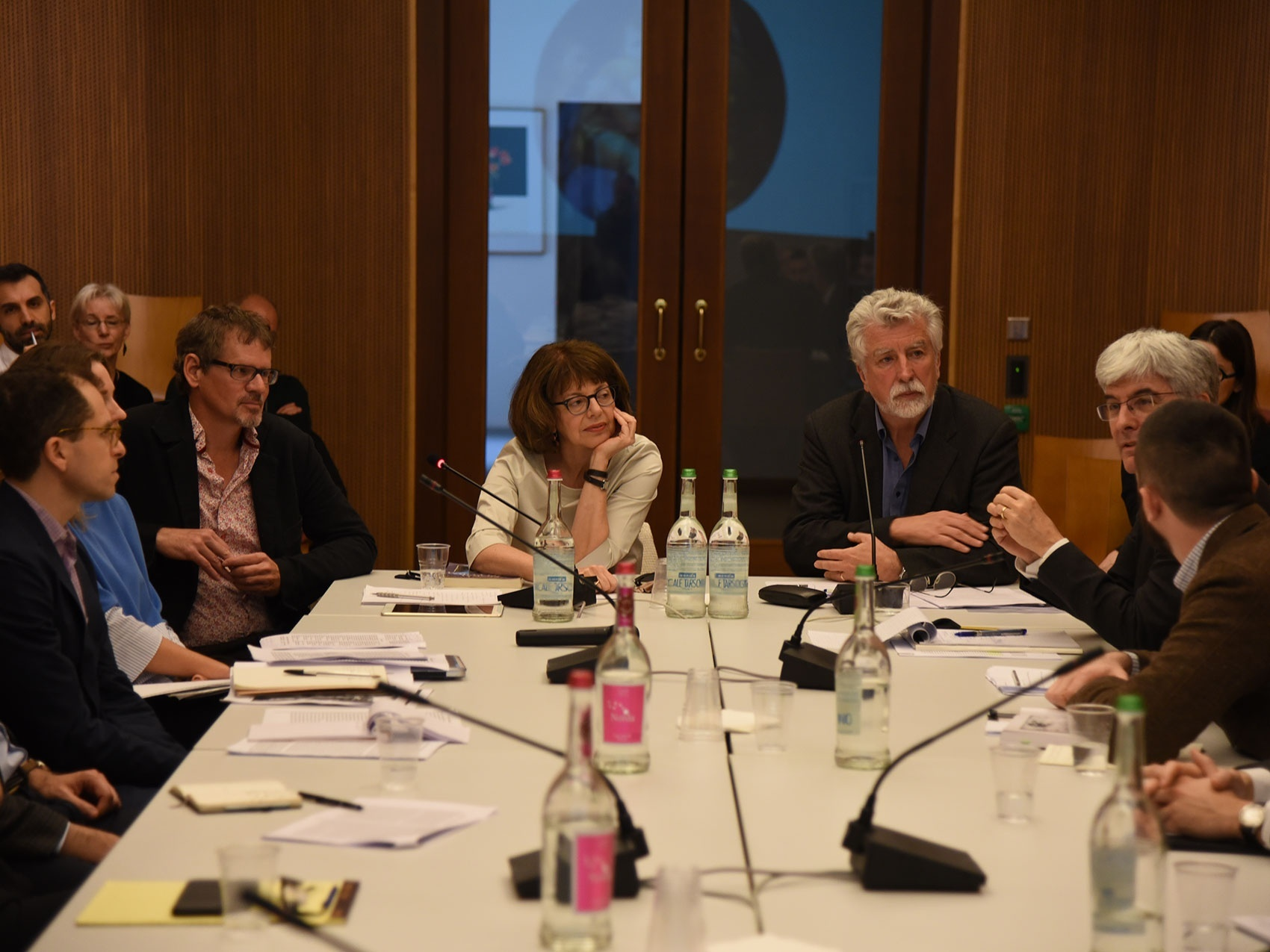 Director Alina Payne and Professor Victor Stoichita during a conference at I Tatti