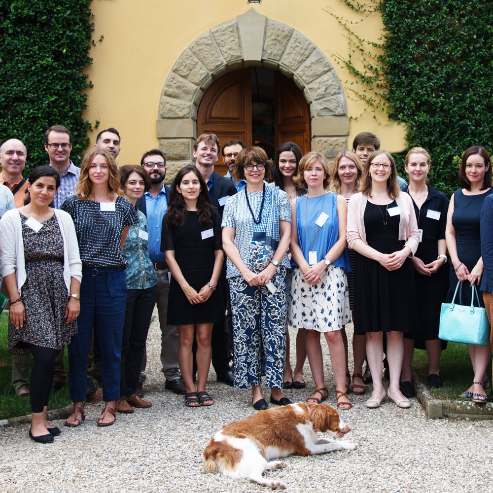 Group photo of 2016-2017 I Tatti's Fellows