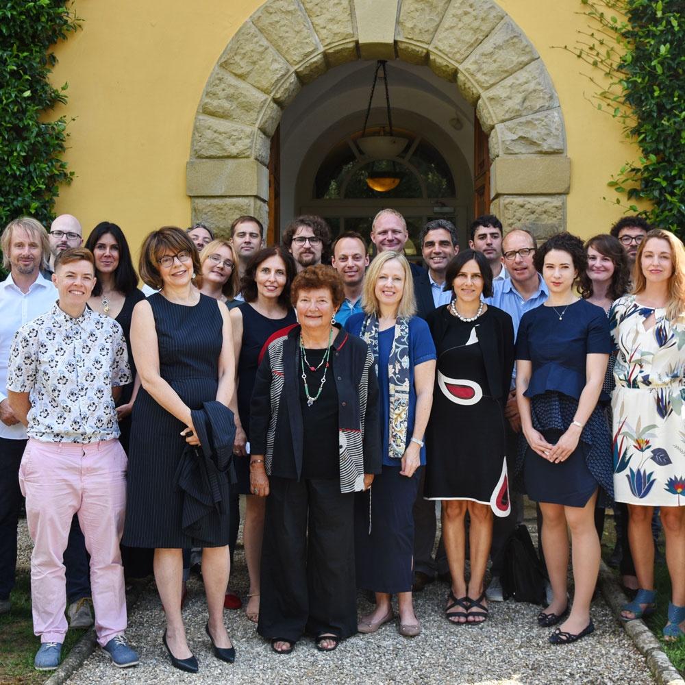 Group photo of 2017-2018 I Tatti's fellows