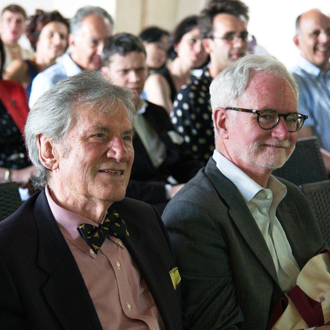 Former I Tatti directors Lino Pertile and Joseph Connors