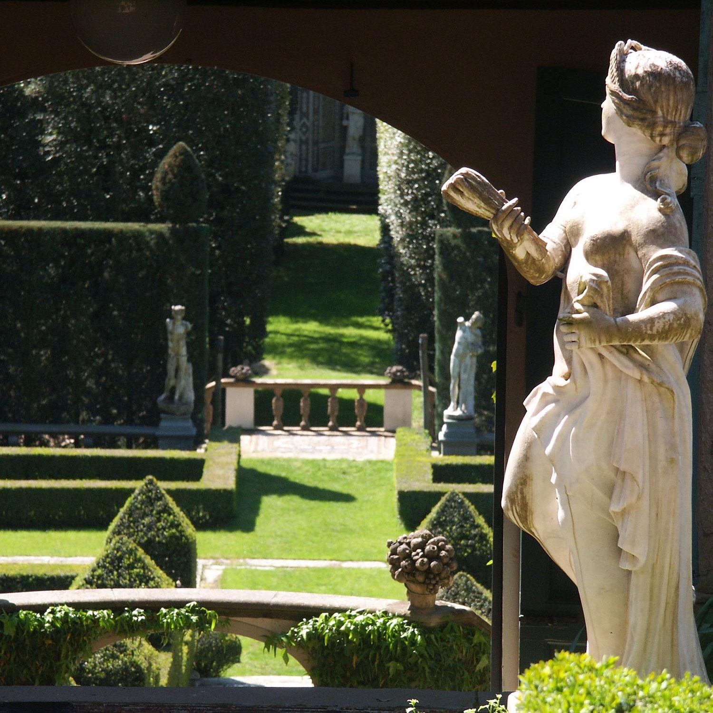 Statue in the italianite garden of I Tatti