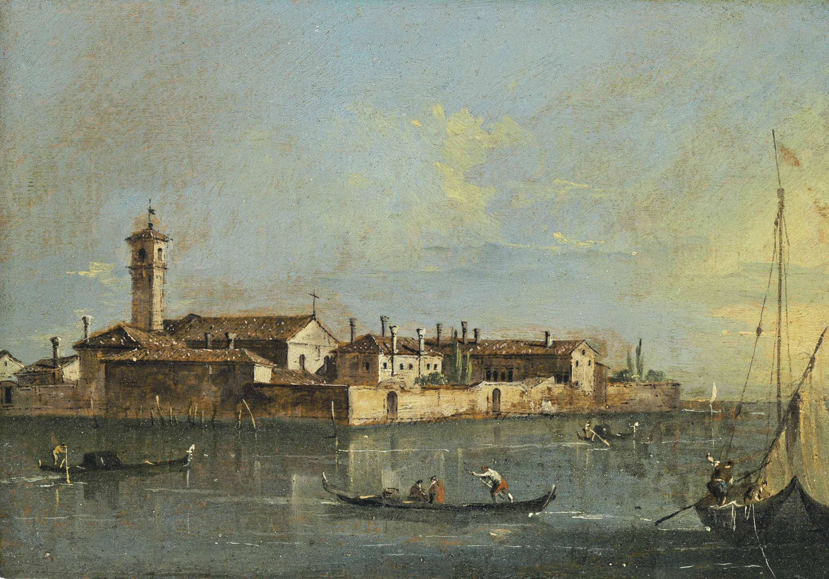 Island of Lazzaretto in Venice