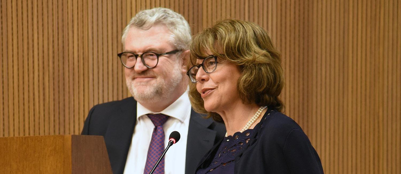 Alina Payne and Miguel Falomir