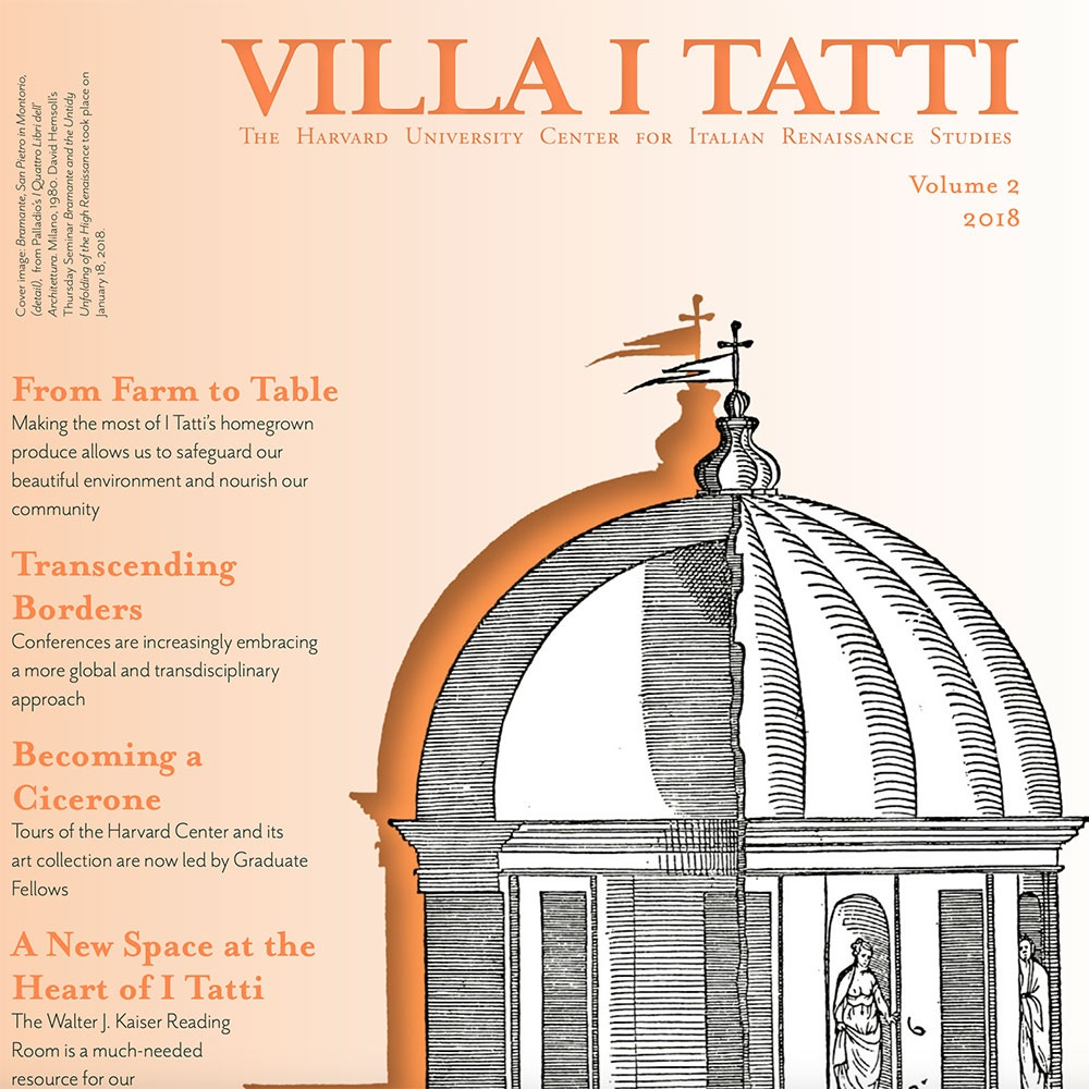 Cover of the 2018 I Tatti Newsletter