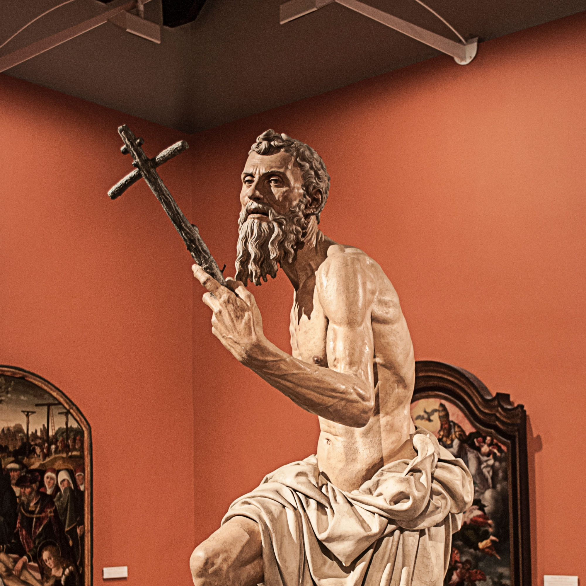 Sculpture of Saint Jerome in Museum of Fine Arts of Seville