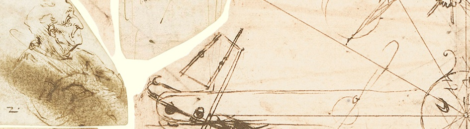 A detail taken from Codex Atlanticus of Leonardo da Vinci