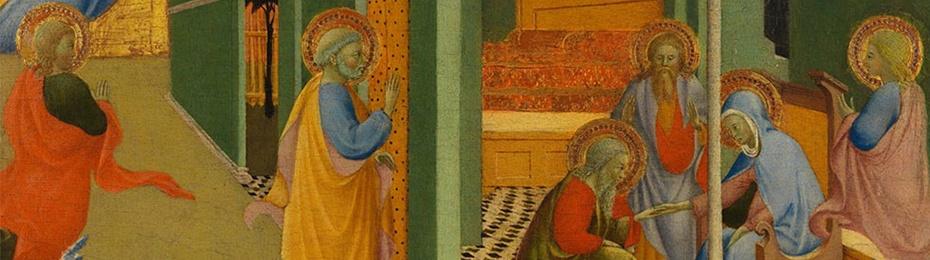 Congedo della Vergine, Sano di Pietro, Berenson Collection, Villa I Tatti
