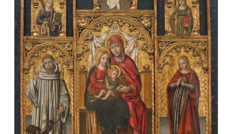Renaissance paintings in the Pinacoteca Civica at Savona