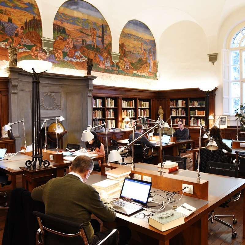 I Tatti's Kaiser Reading Room with Fellows
