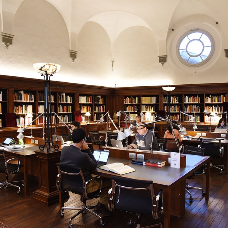 Fellows at work in the Walter Kaiser Reading Room
