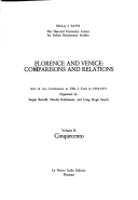 Florence and Venice: Comparisons and Relations