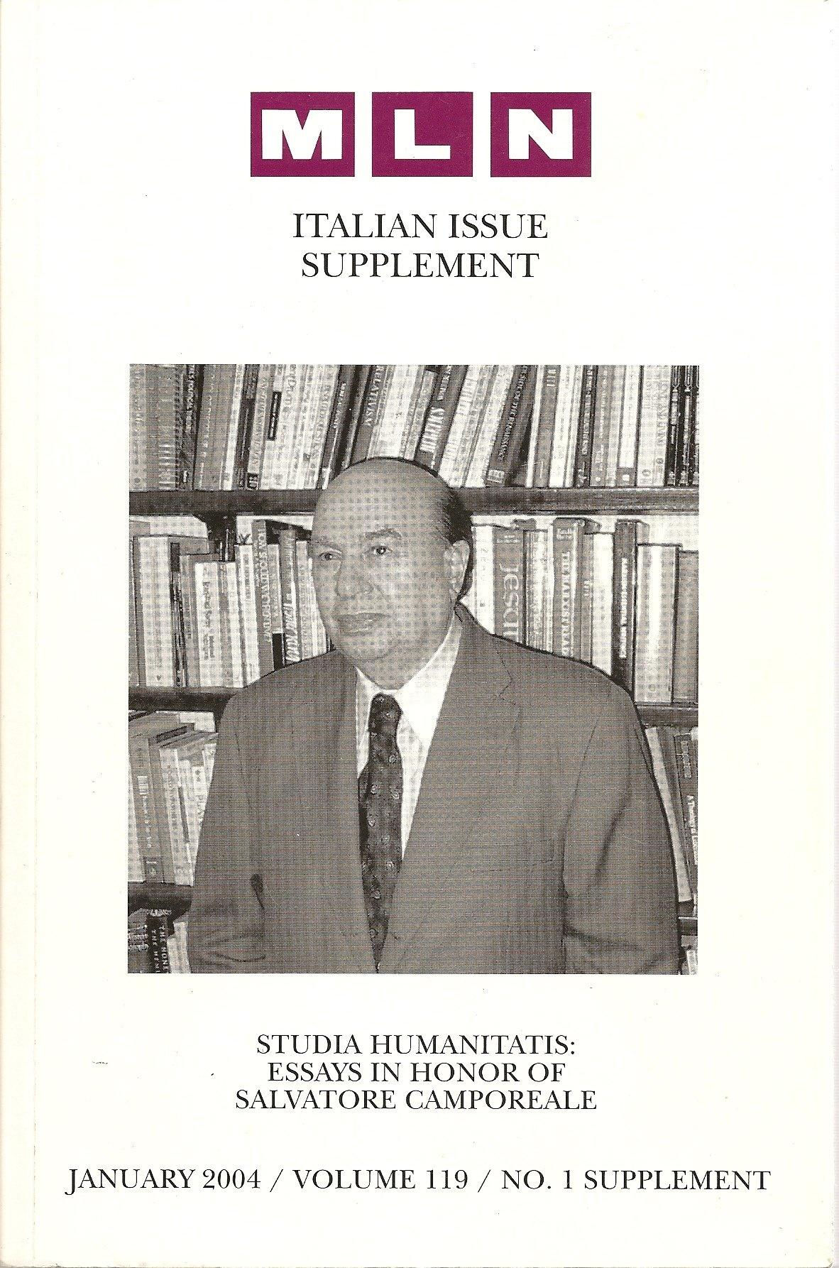 Studia Humanitatis : Essays in honor of Salvatore Camporeale