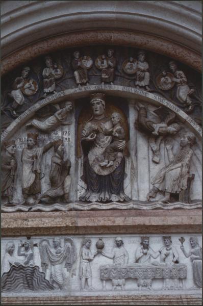 Parma baptistry during the restoration by Bruno Zanardi