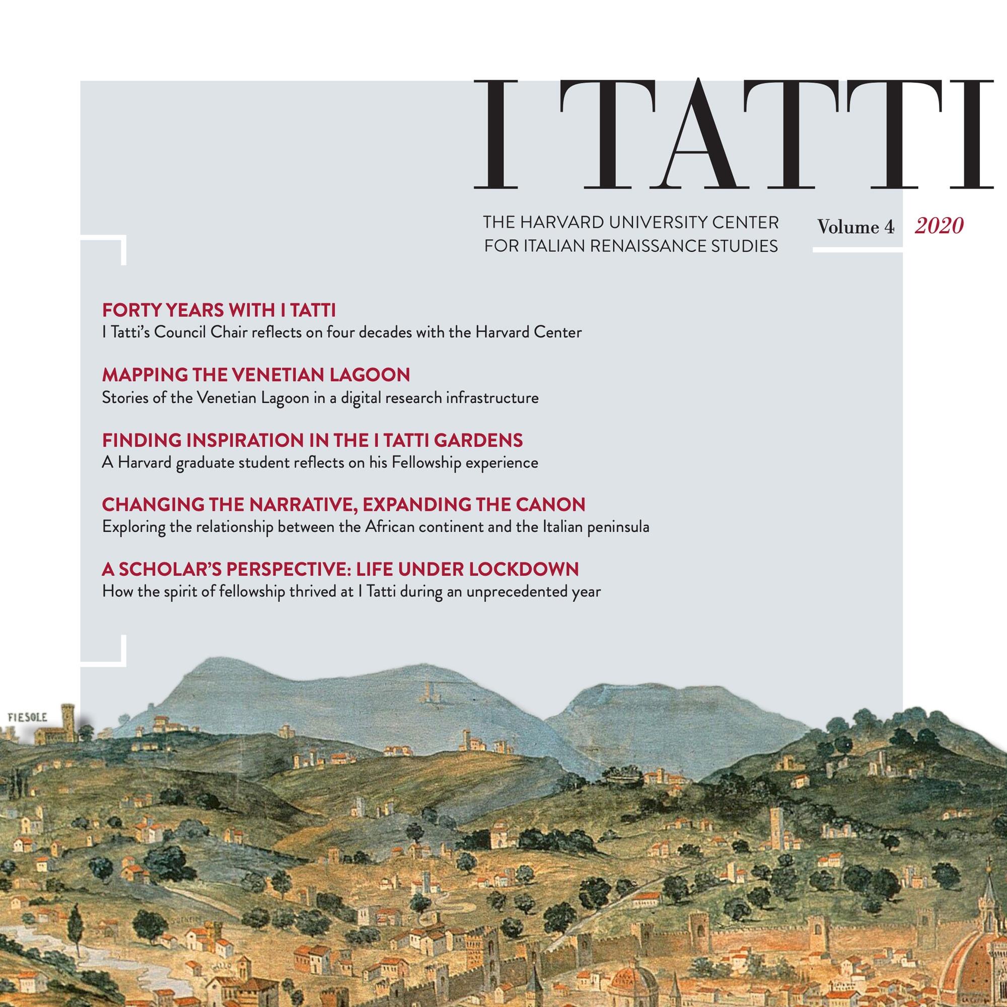 Cover of the 2020 I Tatti Newletter