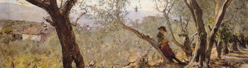Telemaco Signorini olives in Settignano