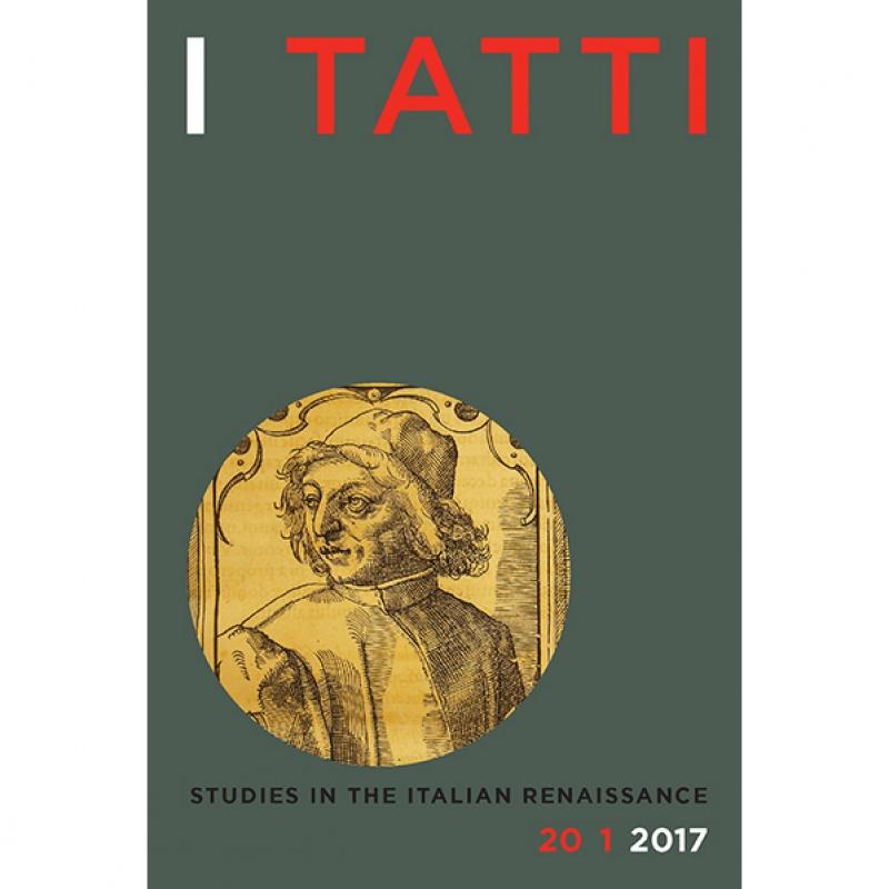 Spring 2017 I Tatti Studies out now
