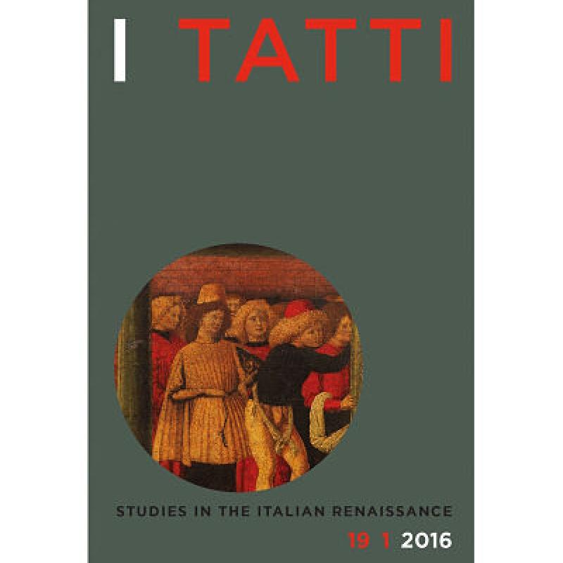 I Tatti Studies Spring 2016